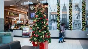 The holiday decorations are up at Roosevelt Field,