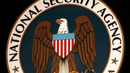 The logo of the National Security Agency.