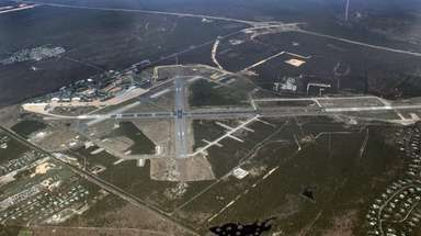 An aerial view of the Gabreski Air National