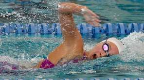 Northport-Commack's Chloe Stepanek swims in a preliminary heat