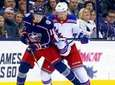 The Blue Jackets' Pierre-Luc Dubois and Rangers' Brendan