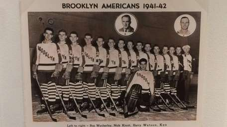 A team photo of the Brooklyn Americans on
