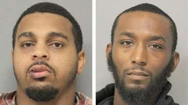 Markus Mcintyre, 25, left, and Kevin Curry,