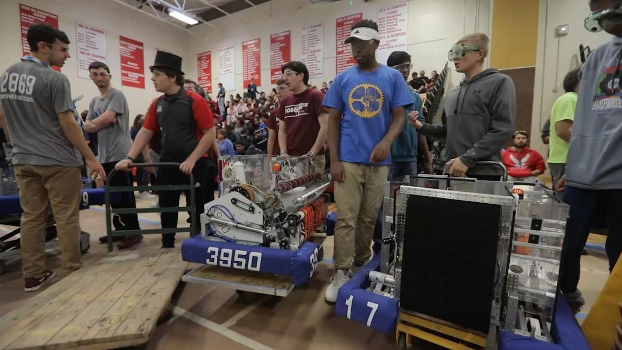 Twenty-four high school robotics teams from across Long