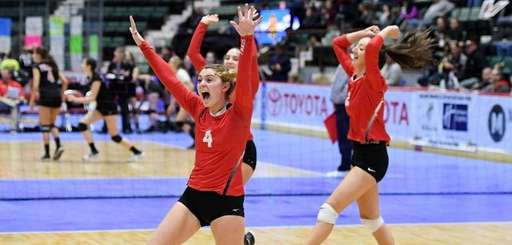 Connetquot's Mackenzie Taylor celebrates after winning a point