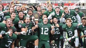 Westhampton celebrates their championship win against Half Hollow