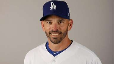 Dodgers third-base coach Chris Woodward on Friday, Feb.