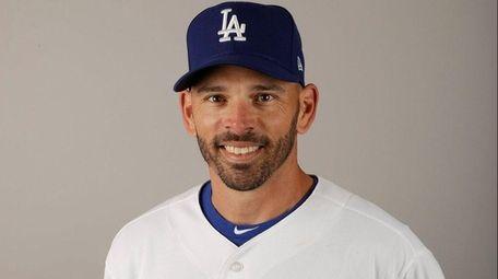 Dodgers third-base coach Chris Woodward on Friday, Feb.