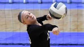 Cassidy Evans of Glenn hits the ball during