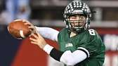 Lindenhurst quarterback Nick Anzalone passes against William Floyd