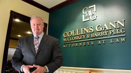 Rick Collins, at his Mineola office, Friday, Nov.