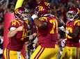 USC quarterback Sam Darnold reacts to his touchdown