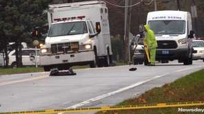 Police are investigating the death of a pedestrian