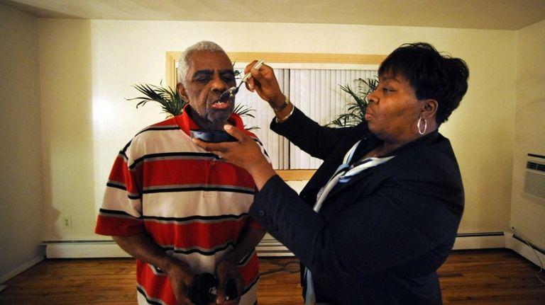 Alzheimer patient Thomas Rowe sometimes won't sit still
