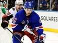 Brendan Smith of the Rangers is pursued by Derick