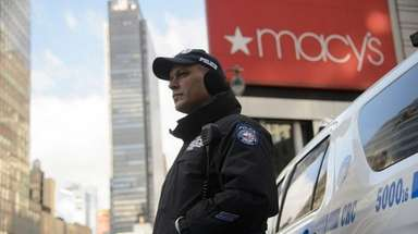 A New York City counterterrorism police officer is