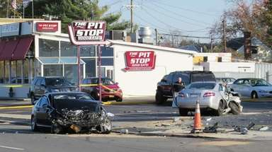 Nassau police said a two-car crash in Merrick