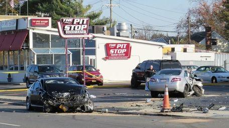 Nassau police said a two-car crash in Merrick