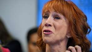 Kathy Griffin speaks during a news conference in