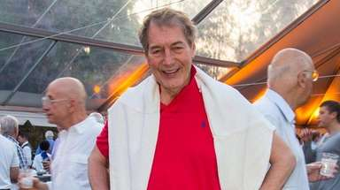 Charlie Rose attends a benefit in Bellport, where