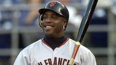 San Francisco Giants slugger Barry Bonds sports a