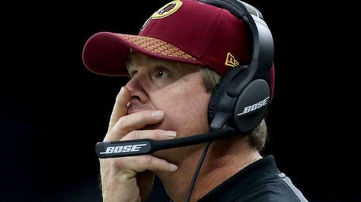 Washington Redskins head coach Jay Gruden during the