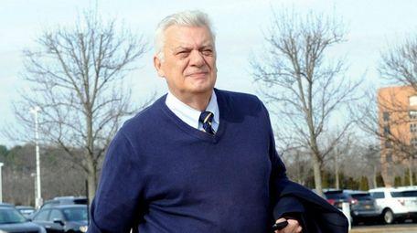 Ex-Oyster Bay Town Supervisor John Venditto arrives at