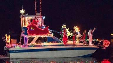 The Christmas Boat Parade lights up the Connetquot