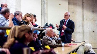 Nassau County College President Doctor Hubert Keen speaks
