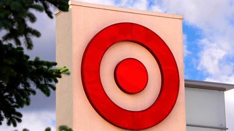 A Target logo on a store.