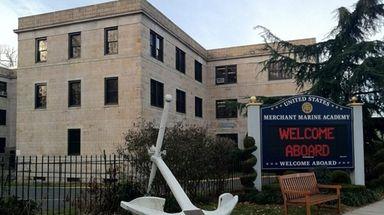Exterior of the U.S. Merchant Marine Academy is