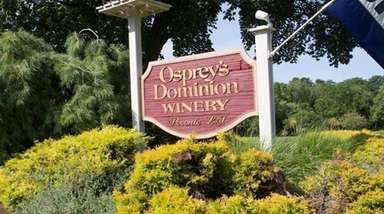 Osprey's Dominion Vineyards, seen on July 17, 2015,