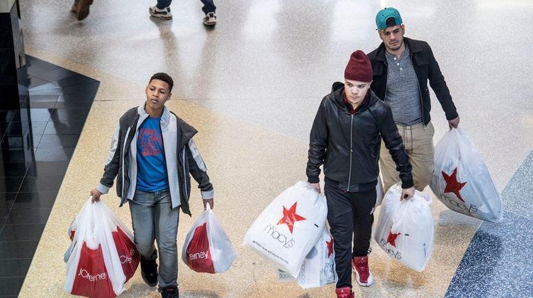 Shoppers hunt for bargains on Black Friday, Nov.