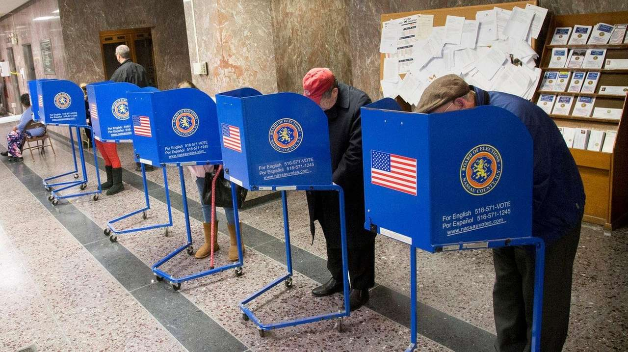 Voters cast ballots at 240 Old Country Rd.
