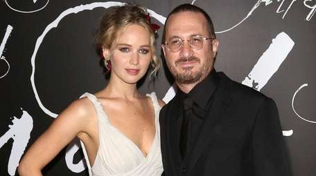 Jennifer Lawrence and Darren Aronofsky at the premiere