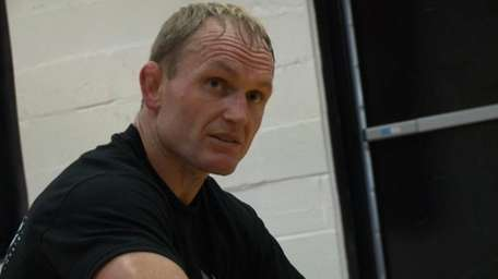 WEC featherweight Deividas Taurosevicius takes a break during