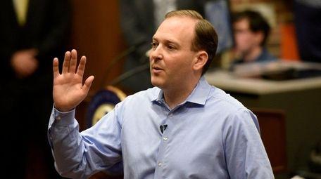 Congressman Lee Zeldin during a town hall meeting