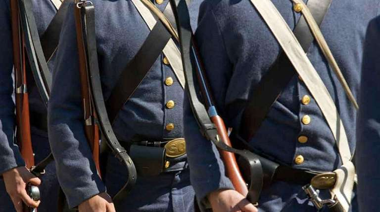 Union military re-enactors.
