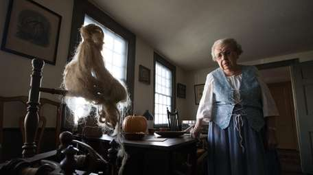 Alice Link, 96, explains how a spinning wheel