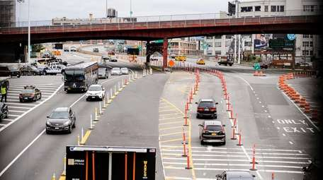 Toll booths have been removed from the Queens