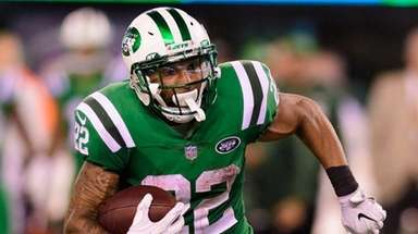 Jets running back Matt Forte cuts up field