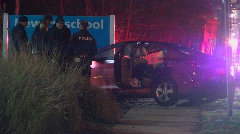 Police investigate after a woman hit a pole