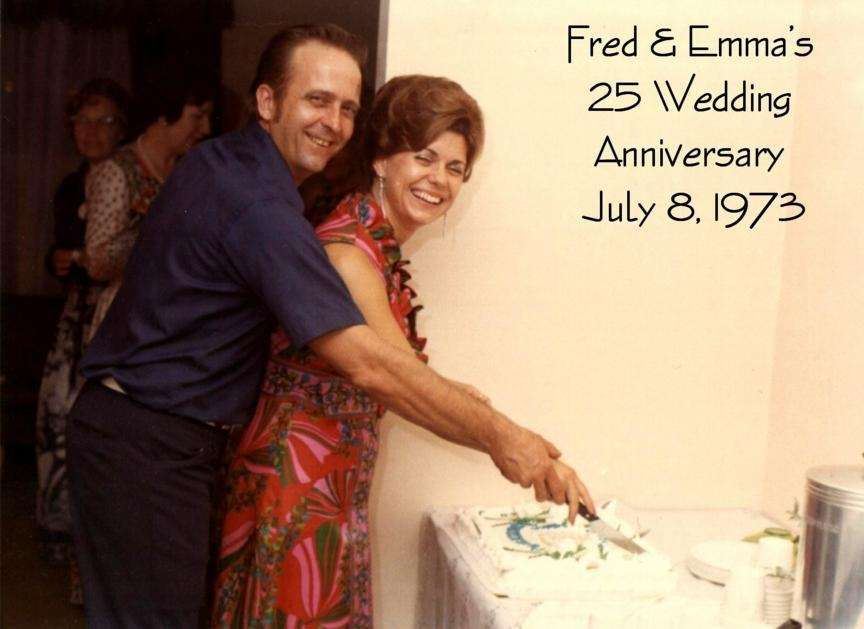 Fred and Emma Decker celebrate their 25th wedding