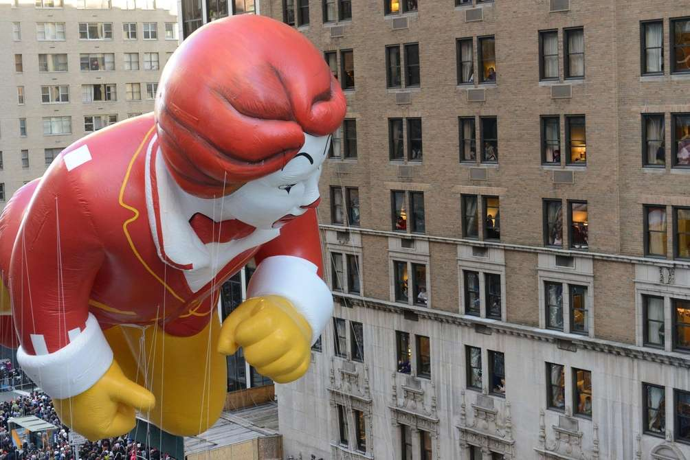 Ronald McDonald checked out the view as he