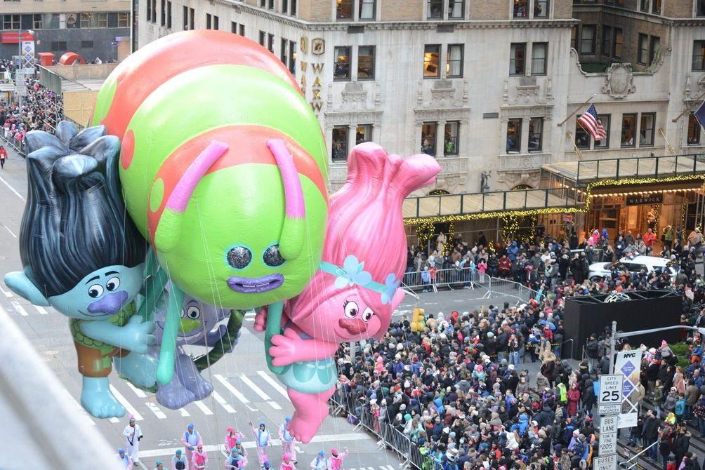Dreamworks' Trolls joined the aerial fun.
