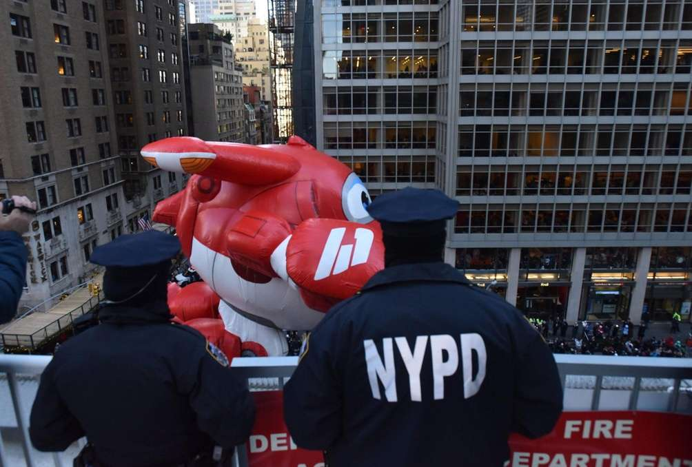 Security is tight at the parade on Thursday,