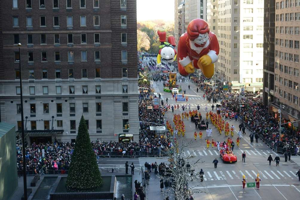 Balloons, floats -- including Ronald McDonald -- and