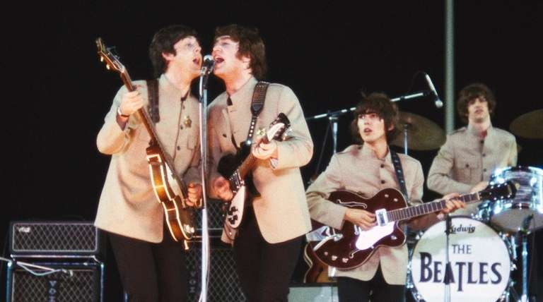 Paul McCartney, left, John Lennon, George Harrison and
