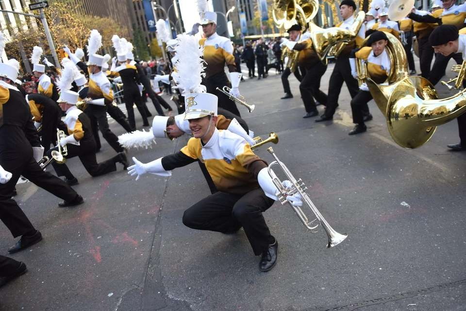 A marching band from Utah entertained crowds on