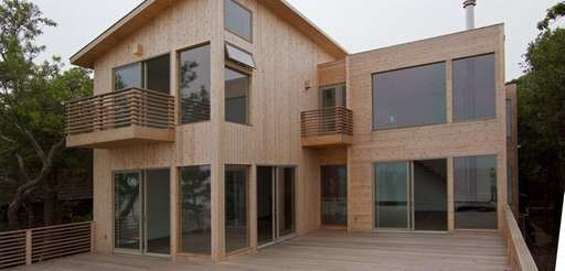 This Fire Island Pines home has four bedrooms,